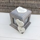 Shabby Chic In Memory Of A Sister Rustic Wood Style Personalised Photo Cube Box - 232994672753